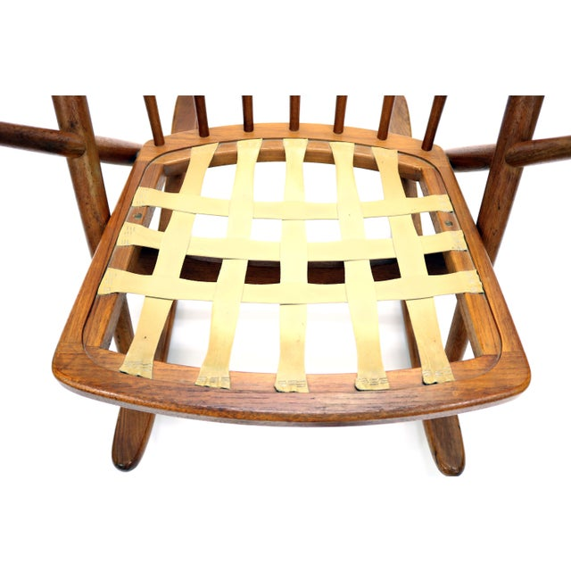 Vintage Frank Reenskaug for Bramin Mobler Danish Teak Rocking Chair For Sale - Image 11 of 12