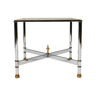 Petite Brass & Steel Side Table