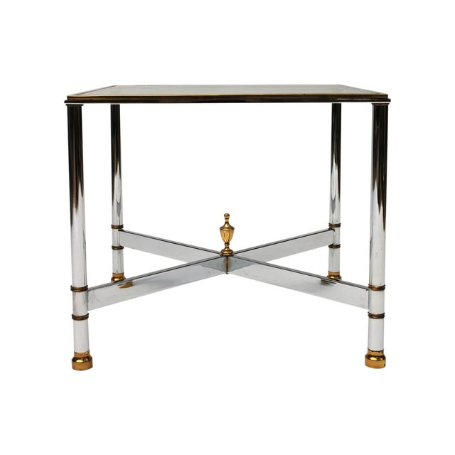 Petite Brass & Steel Side Table - Image 1 of 8