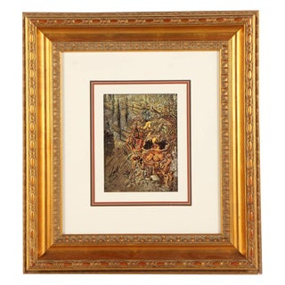 "1950s Vintage Salvador Dali ""Dionysus Spitting..."" Hand Signed Framed Offset Lithograph For Sale"