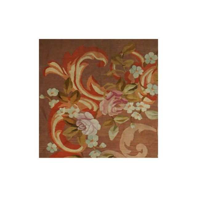 French French Restoration Period Handwoven Antique Aubusson Rug, Circa 1830 For Sale - Image 3 of 4