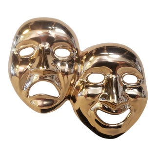 """Brass Comedy and Tragedy Mask by Jime"""" For Sale"""