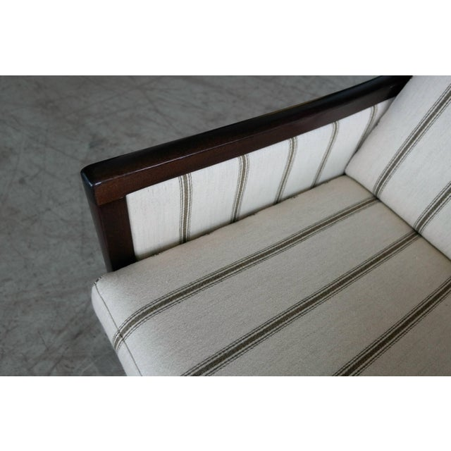 1950s Danish Midcentury Mahogany Settee or Loveseat by Ole Wanscher for Poul Jeppesen For Sale - Image 5 of 10