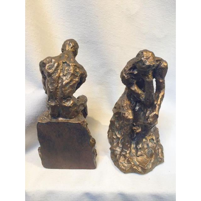 Brutalist Thinking Man Bookends- A Pair - Image 3 of 5
