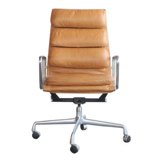 1960s Eames for Herman Miller Soft Pad Butterscotch Executive Chair