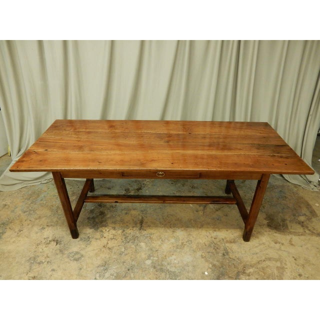 19th Century French Walnut Farm Table For Sale In New Orleans - Image 6 of 10