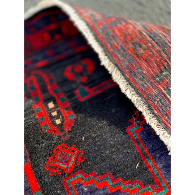 This is a beautiful thick and heavy and plush runner. This Persian rug was made in the 1960s.