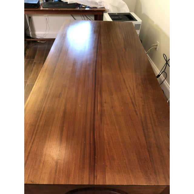 1990s Traditional Partner Mahogany Desk For Sale - Image 9 of 10