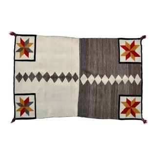 1910 Antique Native American Valero Double Saddle Blanket For Sale