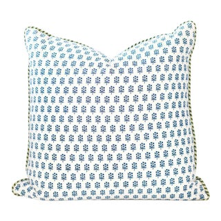 "Dandy Block Print Pillow - 22x22"" For Sale"