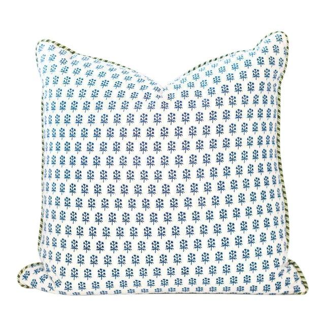 "Dandy Block Print Pillow - 22x22"" For Sale"