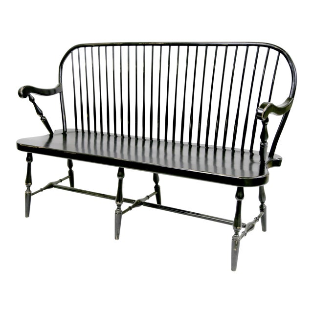 Traditional Windsor Style Amish Bench - Image 1 of 11