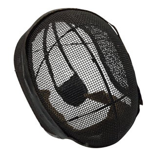 Vintage French Wire Fencing Mask For Sale