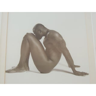 Nude Black and White Abstract Photograph of Black Male Sitting Preview