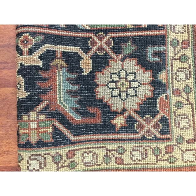 Indo-Persian Heriz Rug - 8′2″ × 9′10″ For Sale - Image 4 of 7