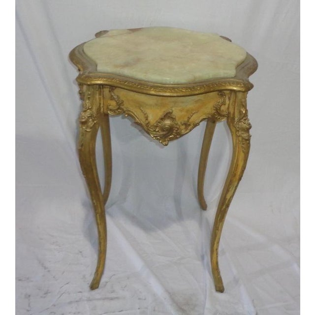 French Marble Top Side Table - Image 3 of 3