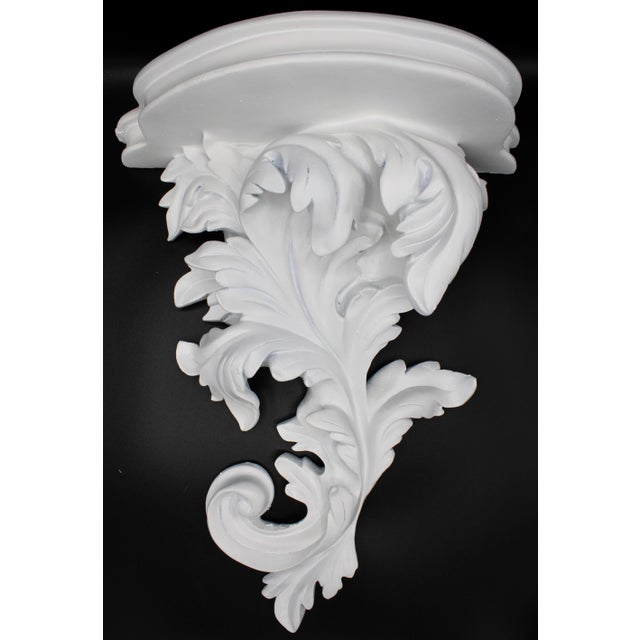 Large White Acanthus Leaf Wall Shelf For Sale - Image 12 of 12