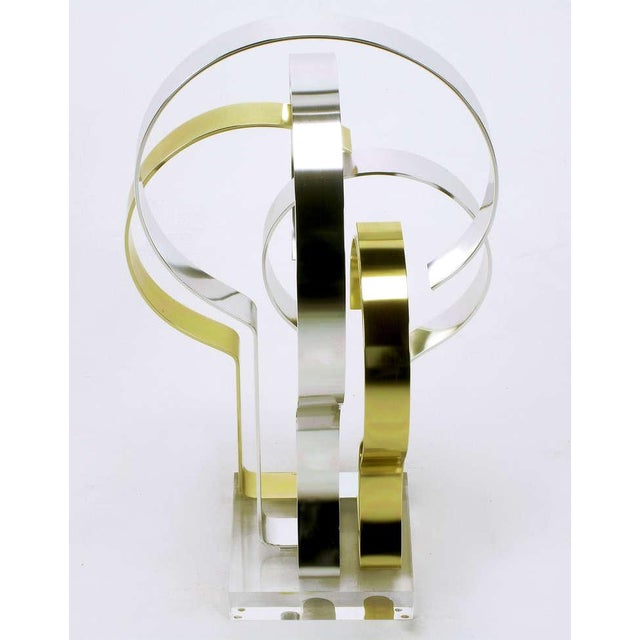 Dan Murphy (American 20th C) Gold & Clear Anodized Aluminum Sculpture For Sale In Chicago - Image 6 of 10