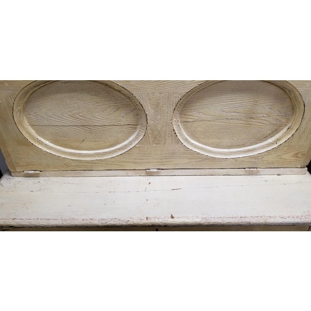 Antique White Hutch Desk - Image 5 of 9