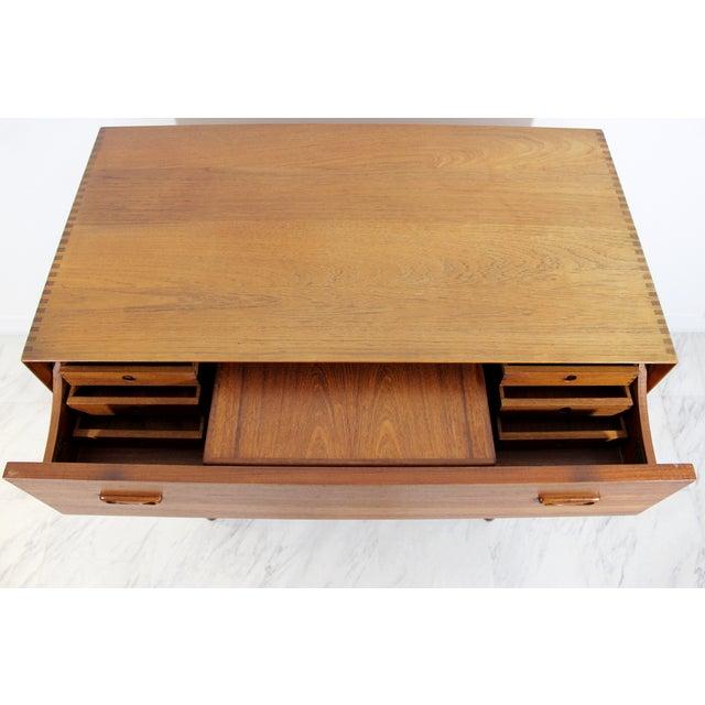 1950s Mid-Century Danish Modern Peter Hvidt Teak Vanity Dresser Cabinet For Sale - Image 12 of 13