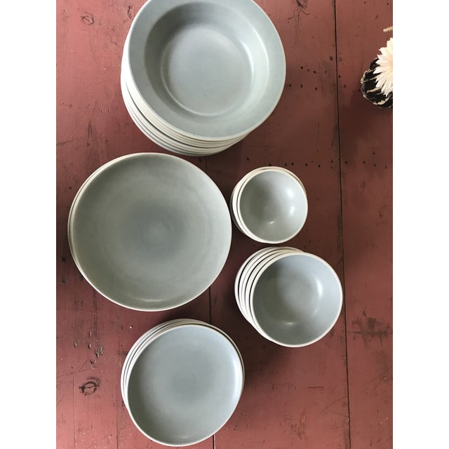 Contemporary Heath Ceramics Plates and Bowls - Set of 33 For Sale - Image 3 of 12
