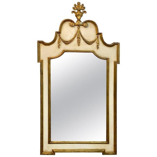 Italian Neoclassic Giltwood and Parcel Gilt Mirror For Sale - Image 11 of 11