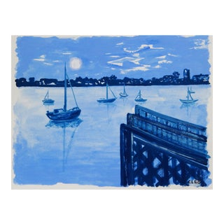 New York Seascape, City Island, Bronx by Cleo For Sale