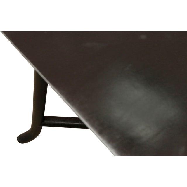 John Widdicomb 1970s Mid Century Modern Widdicomb Coffee Table With Skinny Legs Crossing For Sale - Image 4 of 7