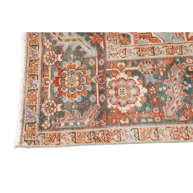 Early 20th Century Antique Heriz Wool Rug For Sale In New York - Image 6 of 11