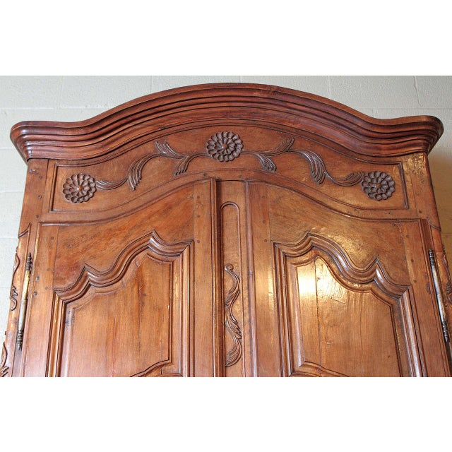 French Louis XV Walnut Armoire Pantalonniere - Image 7 of 10