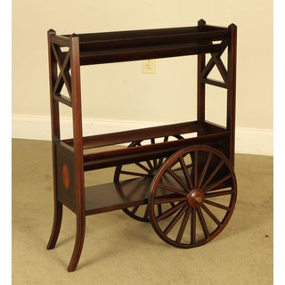 Edwardian Antique Mahogany Inlaid Bookstand Trolly Preview