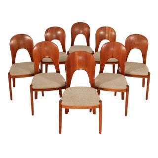 1960s Mid-Century Modern Koefoeds Hornslet Dining Chairs - Set of 8