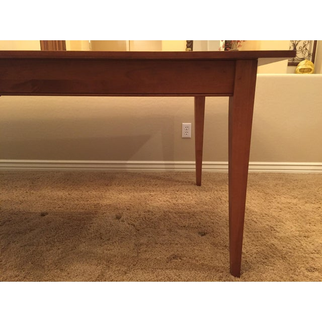 2000 - 2009 Ethan Allen New Impressions Dining Table With 2 Leaves For Sale - Image 5 of 11