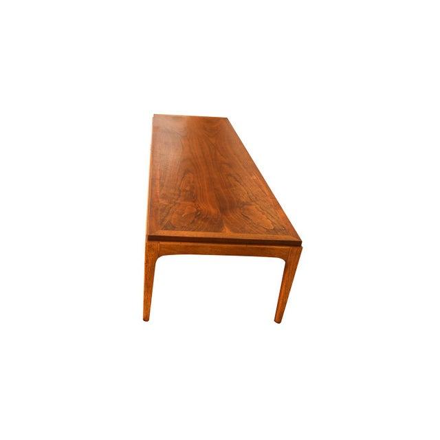 Lane Furniture Mid Century Modern Lane Walnut Coffee Table For Sale - Image 4 of 11