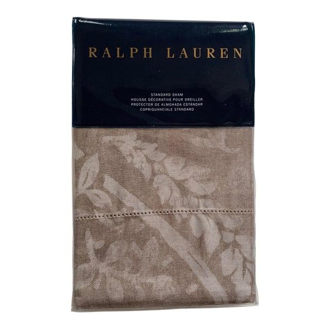 Ralph Lauren Sonoma Valley Natural Standard Pillow Sham For Sale