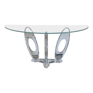 Mikhail Loznikov Signed Lucite Console Table For Sale