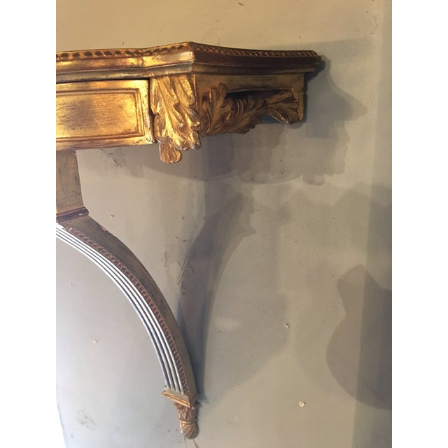 Gilded Hanging Wall Console For Sale - Image 6 of 8
