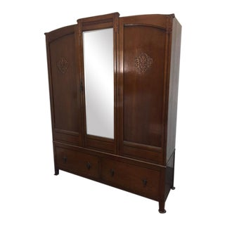 Bath Cabinet Makers 1928 Oak Art Deco Armoire