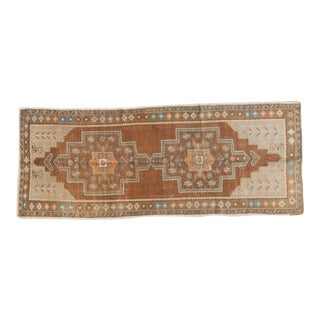 "Vintage Distressed Oushak Rug Runner - 3'11"" x 9'9"""