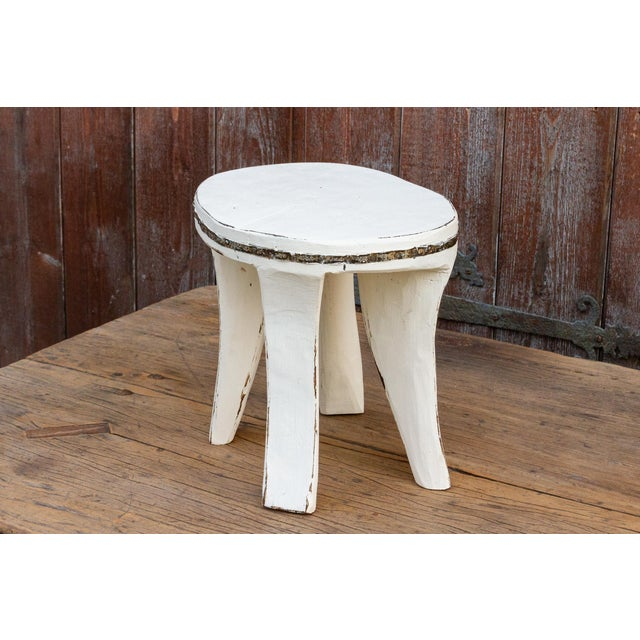 White Tribal Naga Stool For Sale In Los Angeles - Image 6 of 8