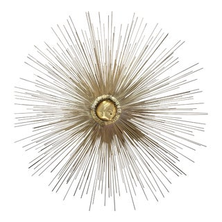 Jere Style Mid-Century Brass & Copper Starburst