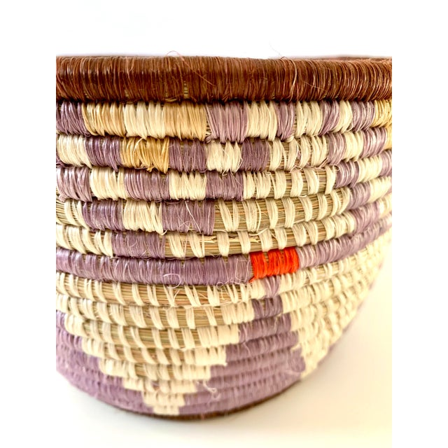 Textile Tribal Style Handwoven Planter/Basket For Sale - Image 7 of 10