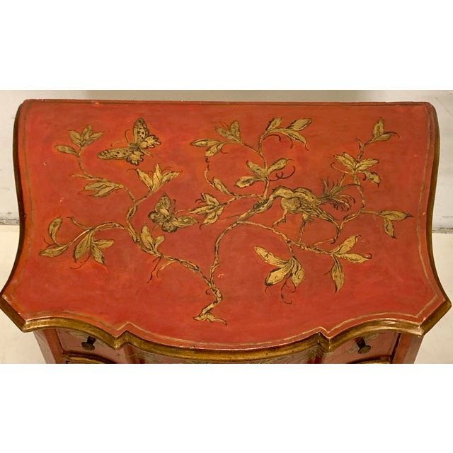 Italian Hand Painted Chinoiserie Chest For Sale - Image 11 of 13