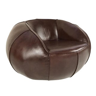 Forsyth Leather Club Chair For Sale