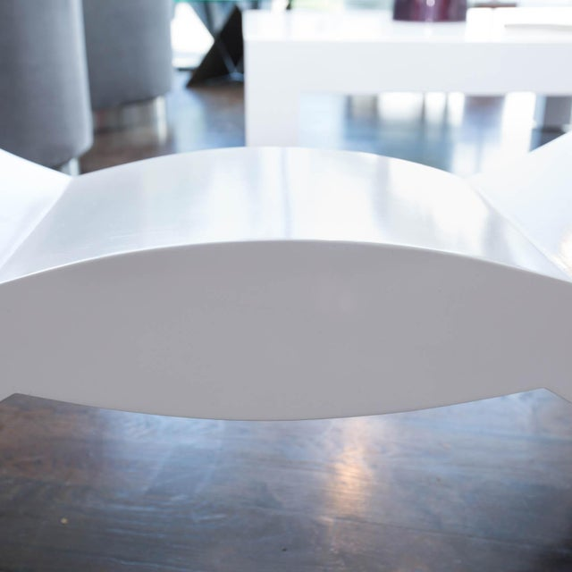 Modern Custom Lacquered Console Table For Sale - Image 3 of 10