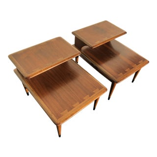 1960s Mid Century Modern Lane Acclaim Step End Tables - a Pair For Sale