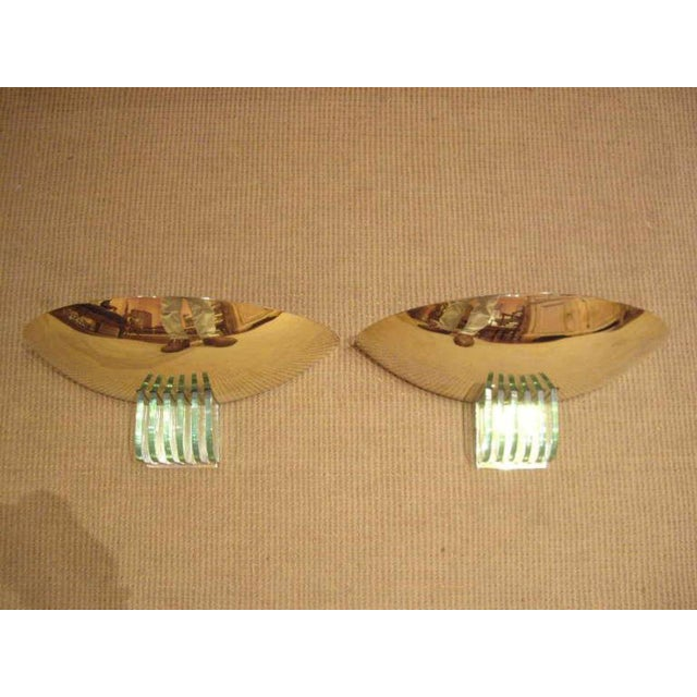 1960s Mid-Century French Brass Wall Sconces - a Pair For Sale - Image 5 of 9