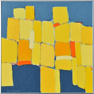 'Composition d'Orange Et Jaune' Original Abstract Painting by Lars Hegelund Preview