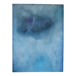 Resilient Blue, I. Oil and Mixed Media on Canvas by C. Damien Fox