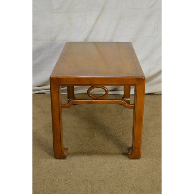 Brown Mid-Century Modern James Mont Style Asian Influenced Side Table For Sale - Image 8 of 13
